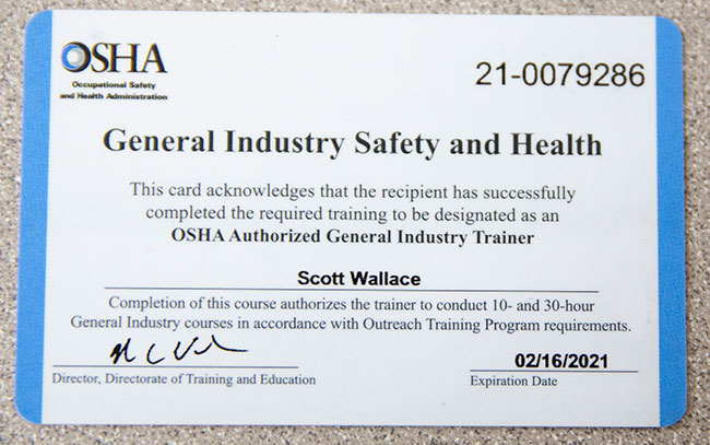 The Facts About Obtaining an OSHA Card